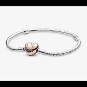 Rose gold heart Pandora bracelet